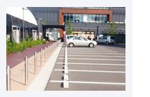 店舗、スーパーマーケットの駐車場での施行例